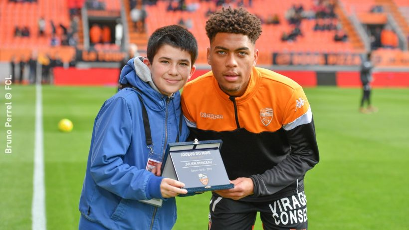 Ponceau Julien (FC Lorient)  -  Joueur du mois de fevrier